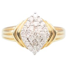 18ct Gold Diamond Fancy Cluster Ring