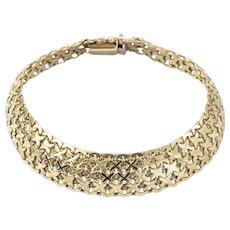 9ct Gold Cross Kisses Mesh Bracelet