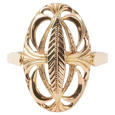9ct Rose Gold Oval Openwork Ring