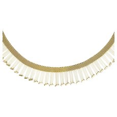 9ct Gold Cleopatra Collar Fringe Necklace, 49 grams