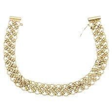 "9ct Gold Circle Chain 8"" Long Bracelet"
