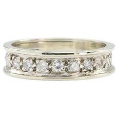 9ct White Gold ½ Carat Diamond Half Eternity Ring