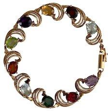 Bright Jewels Colorful Vintage Bracelet (14K Yellow Gold)