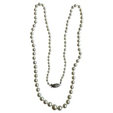 "23"" Japanese Saltwater Cultured Pearls Necklace with 14K Gold Clasp"
