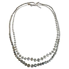 """Vintage Set of Graduated """"Crystal"""" Long Necklaces (High Quality Costume)"""