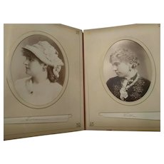 1800s album of actors actresses and others cabinet card photographs Sarony more