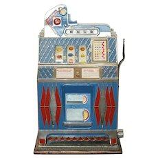 Old MILLS 5c Cent Fortune Teller Mint Vendor 3 Reel Slot Machine WORKS