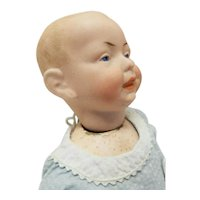 """Old Antique Small 11"""" Kaiser Character Baby, Germany, Bisque Head, Compo Body"""