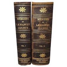 Set of 2 Memoirs of Lenawee County Michigan Books Vol. 1 & 2