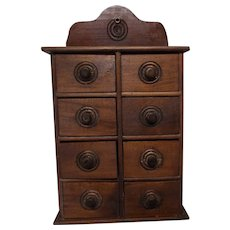 Antique Spice Box 8 Drawer Ready to Use