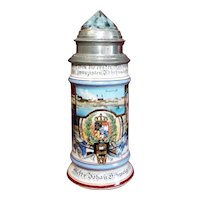 Antique German Military Regimental Beer Stein