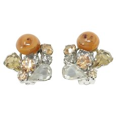 Christian Dior 1958 Vintage Rhinestone Earrings
