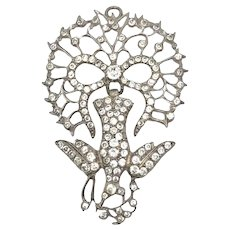 c.1800 Paste French Saint Esprit Antique Pendant