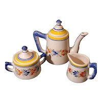 Quimper Faience Breton Tea set