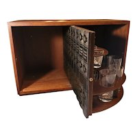 Mid Century Hidden Cocktail Bar in Book Case