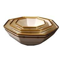 "Vintage Christian Dior Gaudron Nesting Bowls. Stunning. 9"" 7"" 5"""