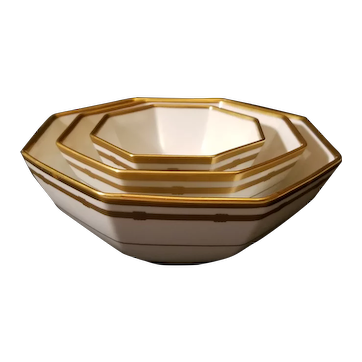"Vintage Christian Dior Gaudron Nesting Bowls. Stunning. 9"" 7"" 5"""