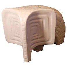 "Jonathon Adler contemporary white elephant figure 10.5""x7"""