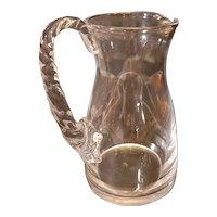 "Wonderful vintage Lalique Frejus pitcher 9"" tall"