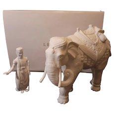 "Vintage Lenox nativity elephant with driver NIB. Hard to find. 10""x9"""