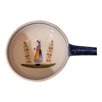 "Quimper Faience Breton pan with handle. 15""x9""x3"""