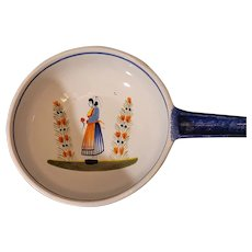 """Quimper Faience Breton pan with handle. 15""""x9""""x3"""""""