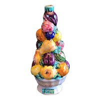 "Vintage Luxardo Italian majolica fruit topiary. Made in 1962. 11""x5"""