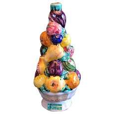 "Vintage Luxardo Italian majolica fruit topiary. Made in 1962. 11""x5"""