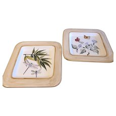 Fratelli Mari Deruto for Vespucci. Excellent condition large serving trays or wall decor. Heavy at 13in sq.