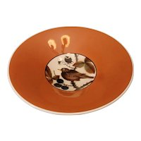 "Mid Century Royal Copenhagen porcelain  Aluminia Faience large bowl. 12.75""x3"""
