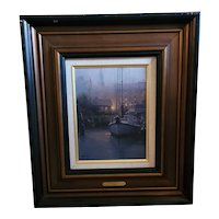 "G. Harvey Limited Edition Signed Canvas. 12""x9"" pic. ""Harbor Mist"" 24""x20 COA"