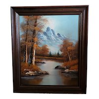 "Beautiful original oil made by American artist D Kent. Tranquil autumn 25""x30"""