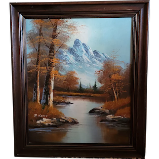 "Beautiful original oil made by American artist D Kent. Tranquil autumn 25""x30"""