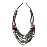 """Tibetan bead necklace. Pretty give strand. 26"""" total length."""