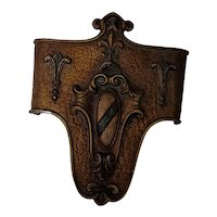 """Vintage art deco metal entry way wall sconce cover. 9""""x7""""x2"""""""