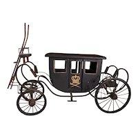 "Antique Royal Coach Carriage. Edwardian late 1900s. Good shape. Rare 27""x15""x10"""