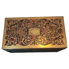 Antique French Boulle Napolean lll Tea Box. Double Well
