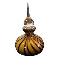 "Vintage Blown Glass Perfume Bottle. Beautiful condition. Polished Pontil 6""x3"""
