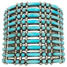 James Mason Navajo 10 row turquoise bracelet