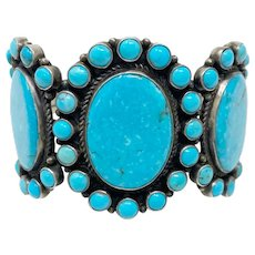 DB Dean Brown Navajo turquoise cluster bracelet