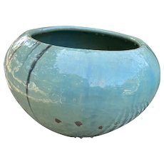 Celedon Jardiniere glazed ceramic Japanese