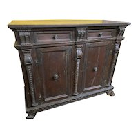 18th Century Italian Carved Walnut Credenza