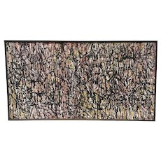 Abstract Oil on Canvas- Jackson Pollock School Signed and Dated by Achi Sullo