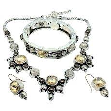 Brighton Selene Necklace Bracelet Earrings Set - Retired