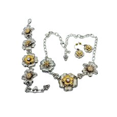 Brighton Retro Garden Necklace Bracelet Earrings Set