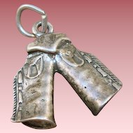 Sterling Western Chaps Charm