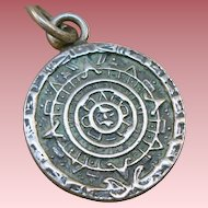 Sterling Mexican Calendar Charm