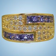 Purple & Crystal Rhinestone Ring