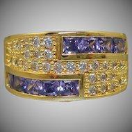 Purple & Crystal Rhinestone Ring