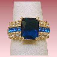 Blue & Crystal Rhinestone Ring